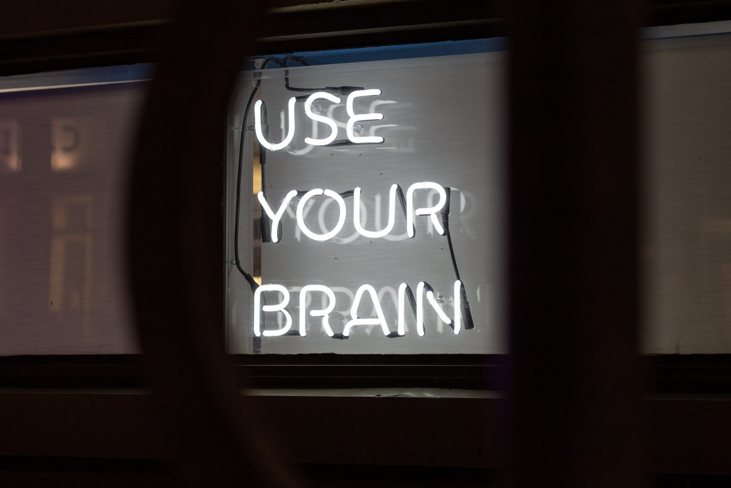 neon Use Your Brain sign